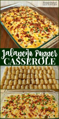 Jalapeño Popper Casserole Recipe with Tater Tots and bacon