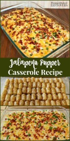 Jalapeno Popper Casserole Recipe with Tater Tops