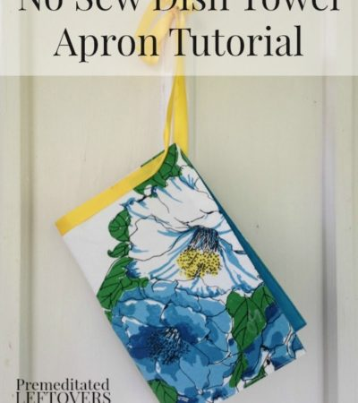No Sew Dish Towel Apron Tutorial