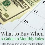 What to Buy When: A Guide to Monthly Sales