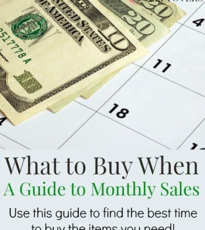 What to Buy When - A Guide to Month to Month Sales