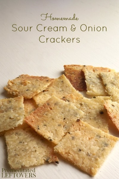 Homemade Sour Cream and Onion Crackers Recipe - Use this easy recipe and tutorial with pictures to learn how to make Homemade Sour Cream and Onion Crackers.