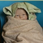 DIY Master Yoda Hooded Towel Tutorial