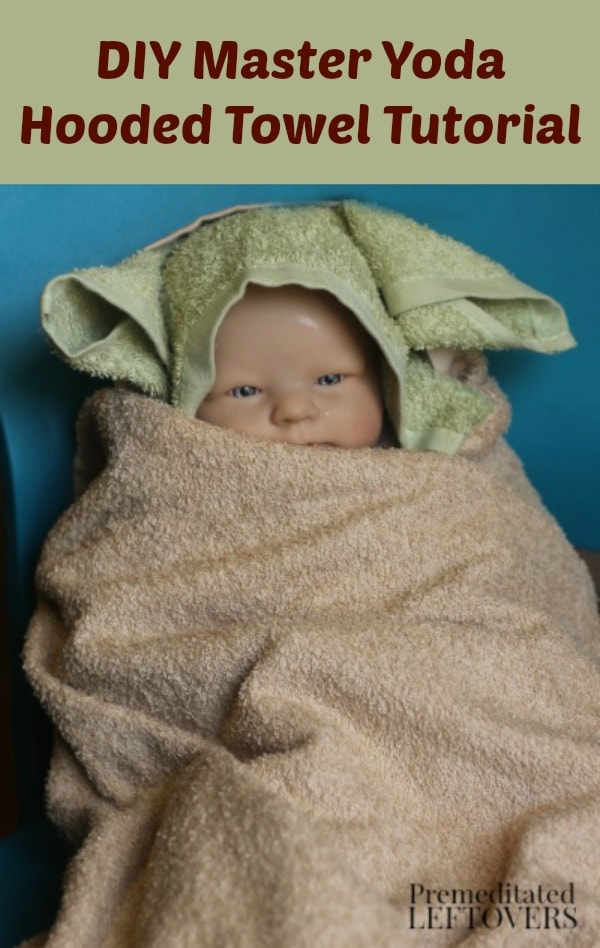 DIY Master Yoda Hooded Towel Tutorial