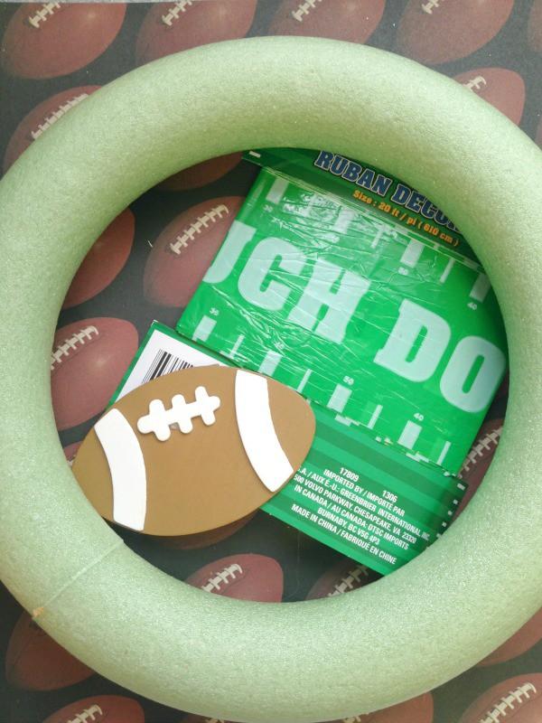 Football themed wreath supplies