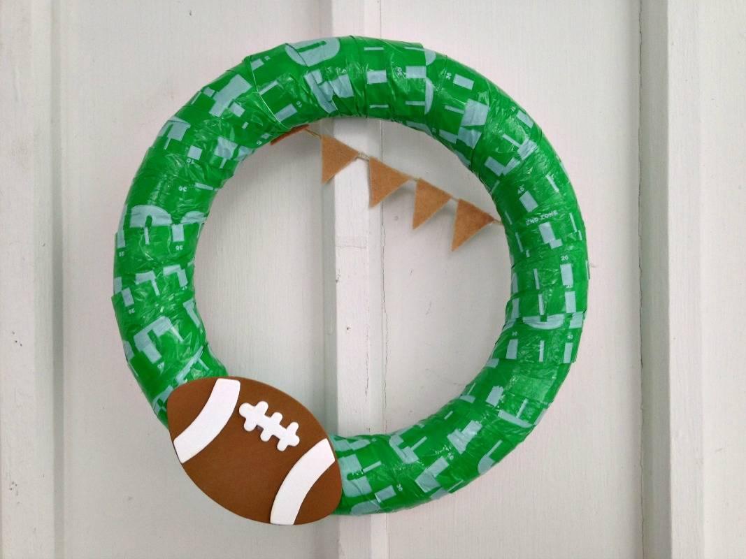 DIY Football Wreath Tutorial