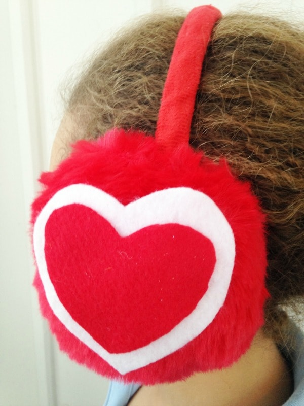 DIY Valentine's Day Ear Muffs for Kids