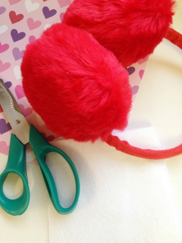 DIY Valentine's Day Ear Muffs for Kids Supplies