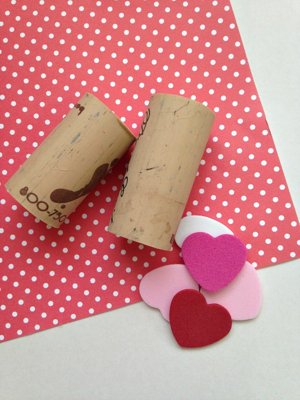 Repurposed Wine Cork Valentine's Day Stamp Supplies