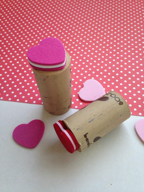 Wine Cork Valentine's Day Stamps Tutorial