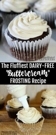 Make the very best fluffy dairy-free frosting recipe