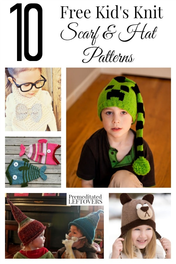 The weather is still a wee bit chilly outside so that means there is plenty of time to make these 10 Free Kid's Scarf and Hat Knitting Patterns!