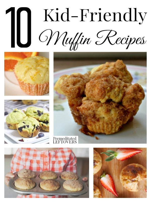 10 Kid Friendly Muffin Recipes - If you are looking for some quick and easy breakfast and snack recipes for your kids check out these tasty muffin recipes!