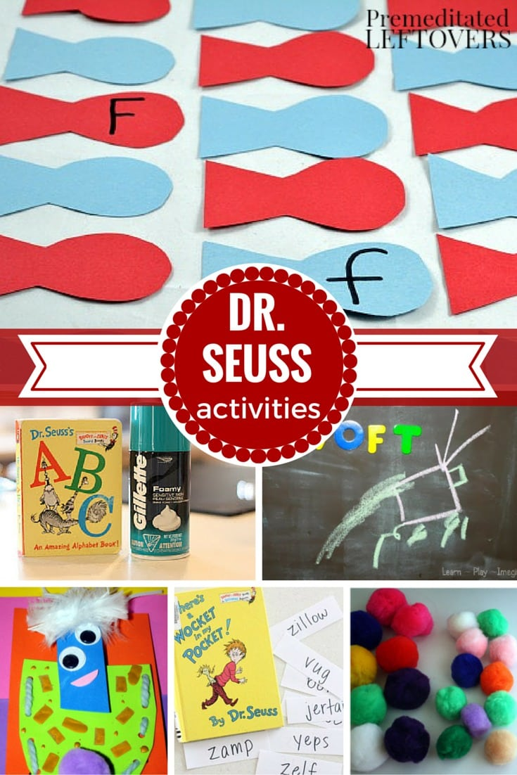 30+ Dr. Seuss Crafts, Activities, and Printables- These are fun ways for kids to celebrate National Read Across America Day or Dr. Seuss Day on March 2nd.