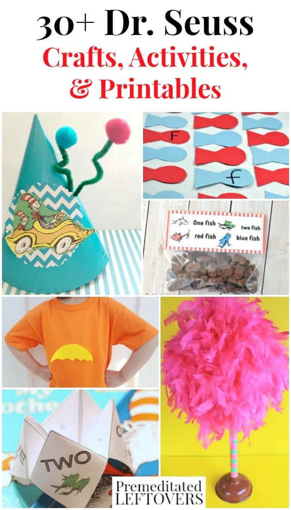 30+ Dr. Seuss Crafts, Activities, and Printables - These are fun ways for kids to celebrate National Read Across America Day or Dr. Seuss Day on March 2nd.