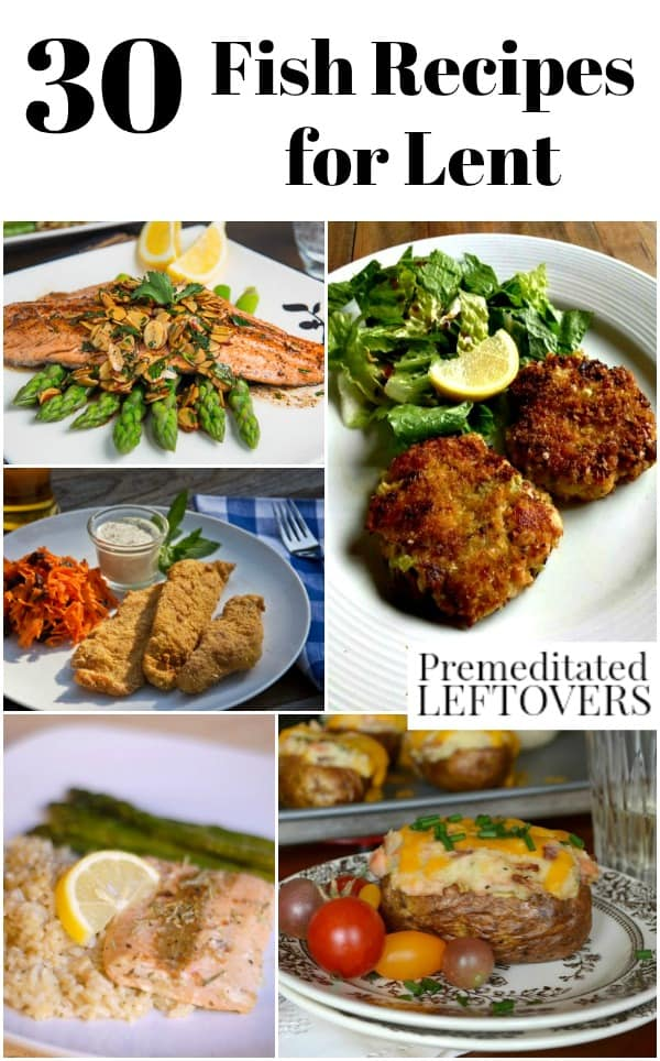 a collection of fish recipes that are appropriate for Lent