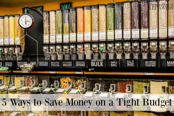 Bulk food sections are a great way to save money on a tight budget