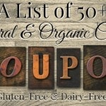 A List of 50+ Natural and Organic Coupons
