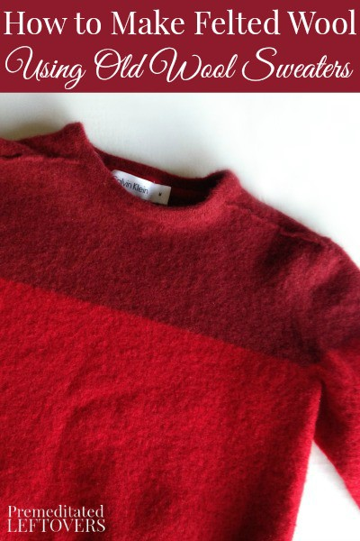 Make Felt Used Sweater