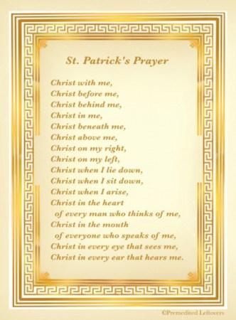 St. Patrick's Breastplate & Printables of St. Patrick's Prayer