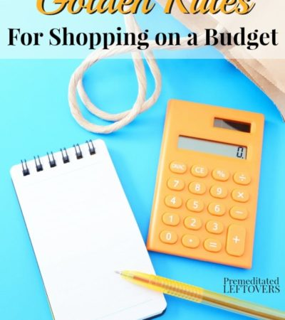 Golden Rules for Shopping on a Budget