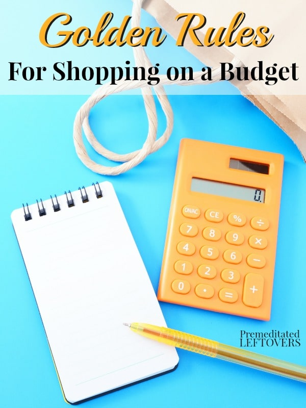If you are trying to reign in your finances and stick to your budget, these Golden Rules for Shopping on a Budget are a great place to start.