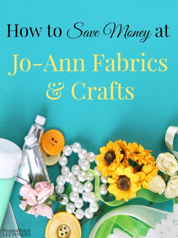 If you are into sewing or crafts and are looking for ways to save money on your hobby, try these awesome tips on how to save money at Jo-Ann Fabrics.