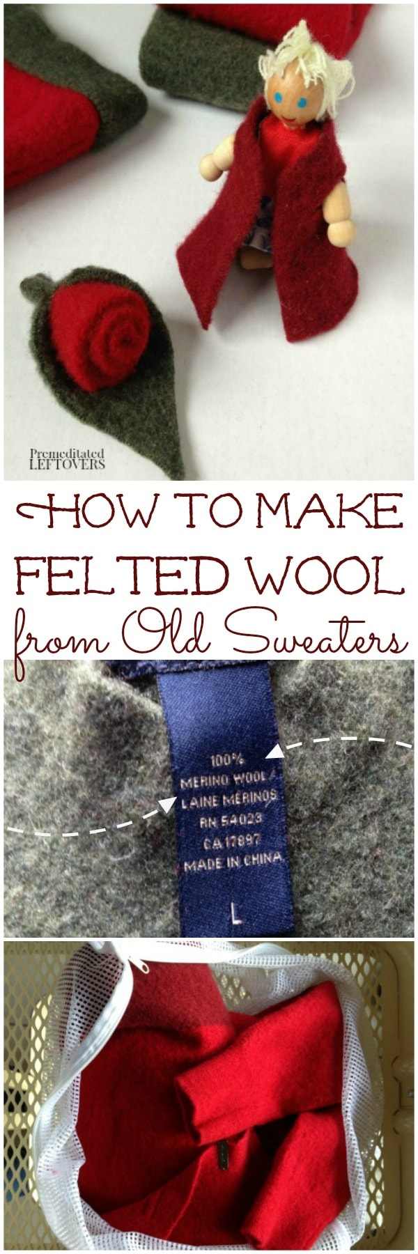 How to Make Felted Wool from Old Sweaters