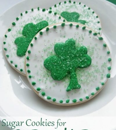 Shamrock Sugar Cookies for St. Patrick's Day
