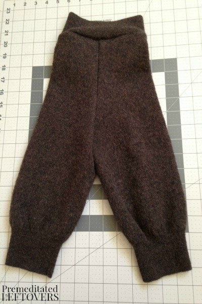 How to make felted wool baby pants from a sweater