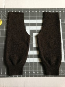Homemade felted wool baby pants