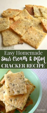 These delicious homemade sour cream and onion crackers are easy to make!