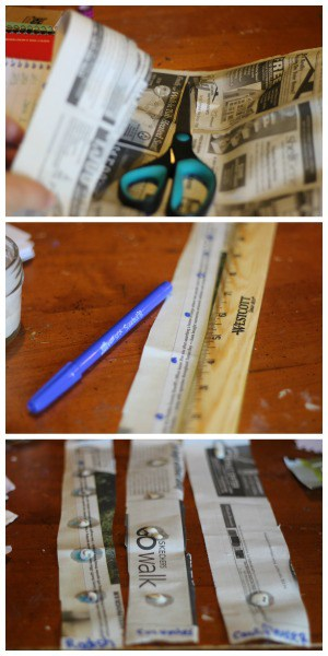 how to make seed tape using newspaper