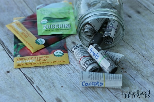 How to Make Seed Tape with Newspaper  - Get ahead start on your garden and use this easy tutorial to make your own Seed Tape.