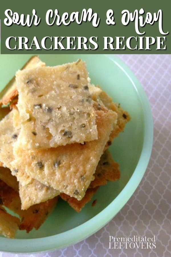 This homemade Sour Cream and Onion Crackers recipe is easy to make! Use this tutorial to learn how to make homemade crackers to snack on or serve with soup. This snack recipe is sure to become a family favorite!