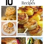 10 Awesome Pineapple Recipes including pineapple salsa, pineapple smoothies, pineapple desserts, pineapple cooking hacks and how to preserve pineapple.