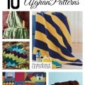 10 Free Knit Afghan Patterns including free knit blanked patterns, free knit patterns for baby blankets, and Afghan patterns for all ages and skill level.