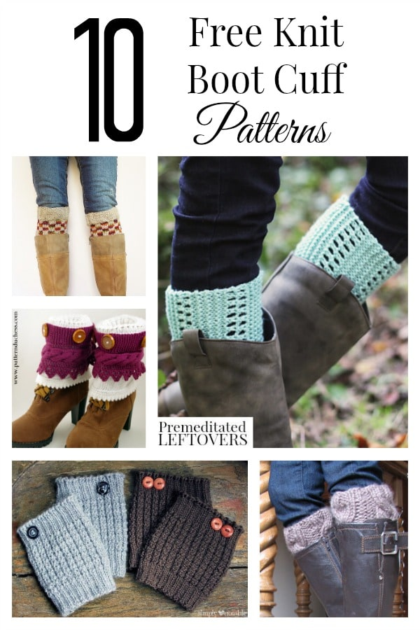 Knitting Patterns Free Boot Cuffs : 10 Free Knit Boot Cuff Patterns