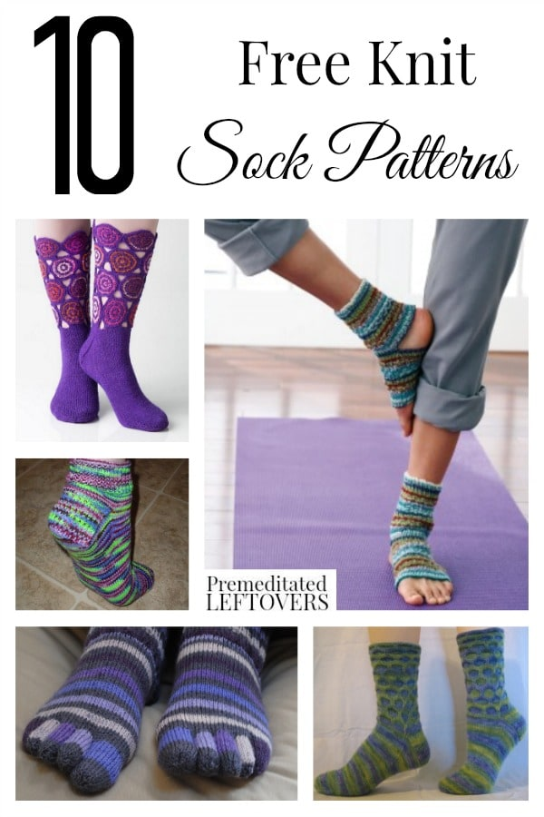 10 Free Knit Sock Patterns