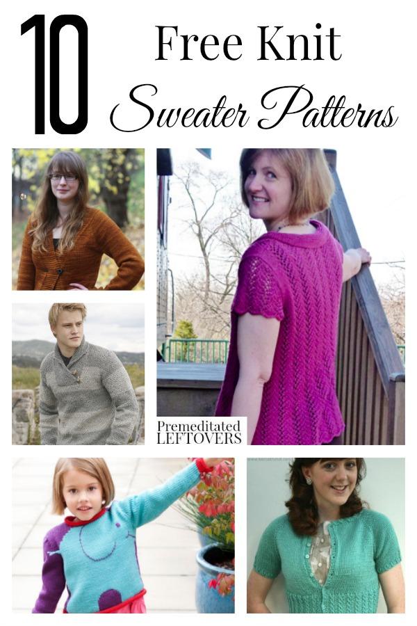 10 Free Knit Sweater Patterns