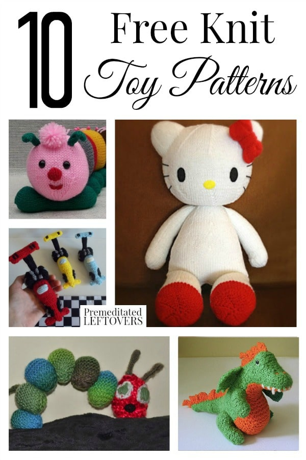 10 Free Knit Toy Patterns