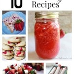 10 Tasty Strawberry Recipes including how to freeze strawberries, how to preserve strawberries and how to make strawberry jam.