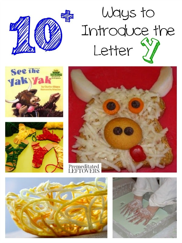 If you are looking for fun ways to teach the letters, here are 10 ways to introduce the letter Y with crafts, recipes, books and more!