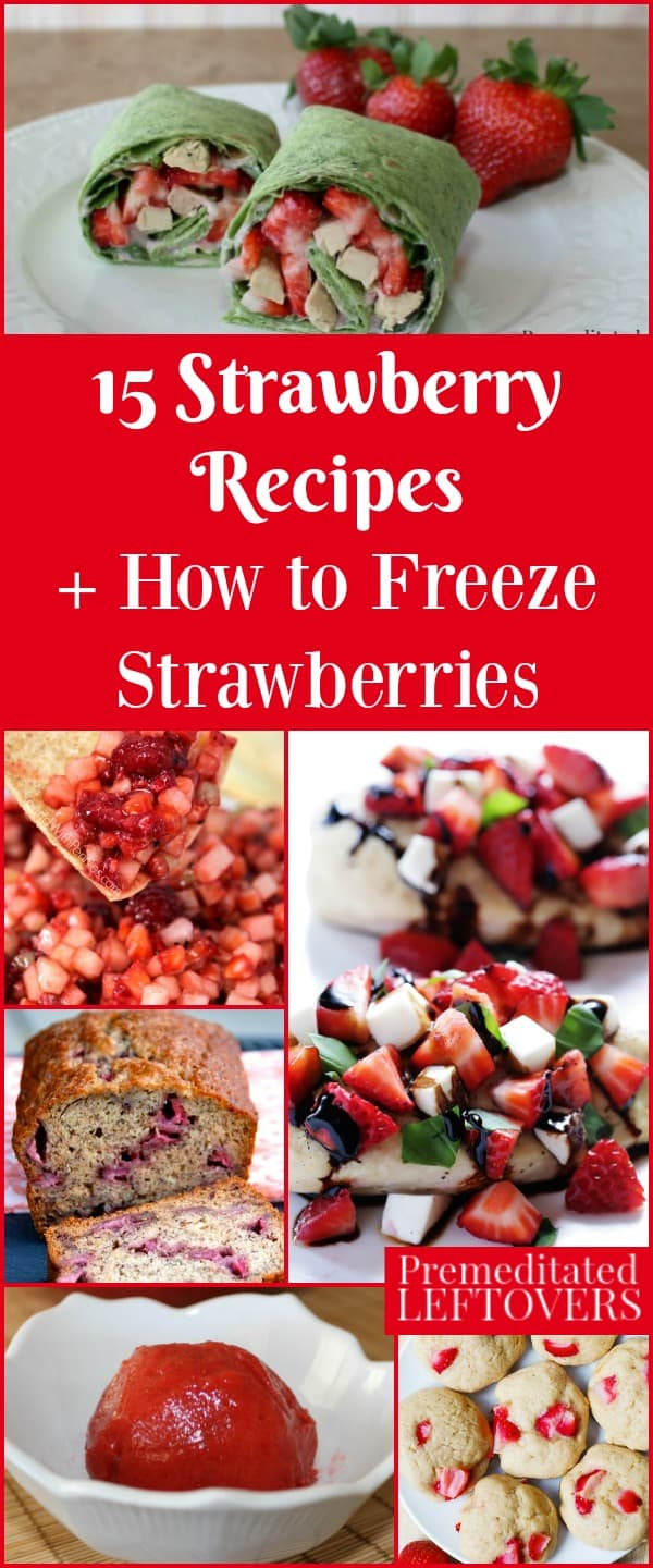 Learn how to freeze strawberries when they are in season to use throughout the year, and enjoy them in 15 delicious strawberry recipes.