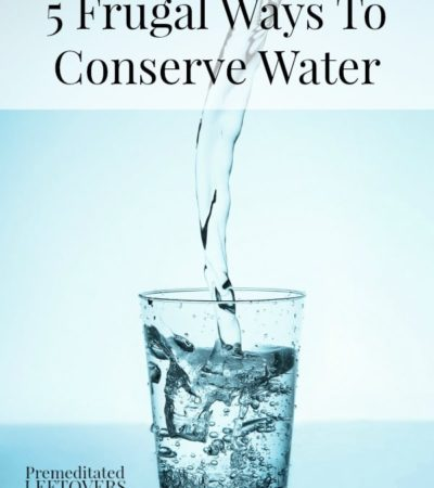 5 Frugal Ways To Conserve Water