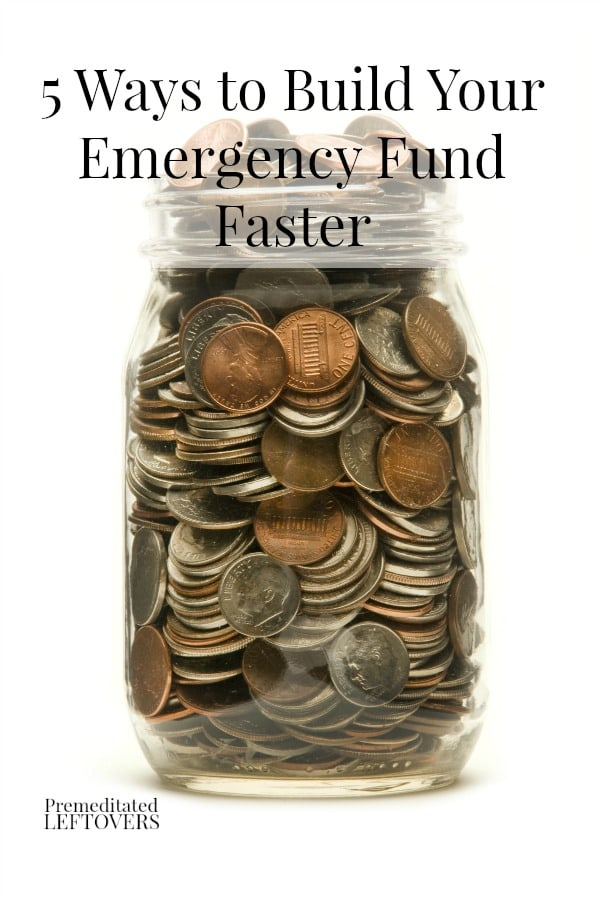 5 Ways to Build Your Emergency Fund Faster - Here are some ways to earn some extra money to start building an emergency fund.