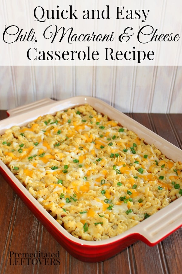 Quick and Easy Chili, Macaroni and Cheese Casserole Recipe. You can use Horizon Gluten-Free Macaroni and White Cheddar cheese to make this recipe gluten-free.