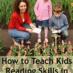 How to Teach Kids Reading Skills in the Garden