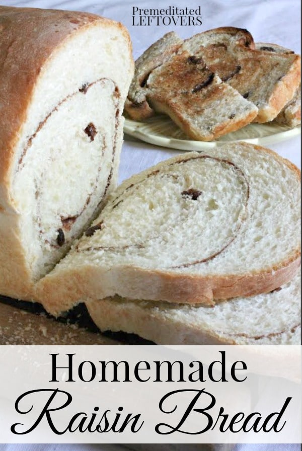 Cinnamon Raisin Bread Recipe with instruction on proofing yeast bread. Try making cinnamon raisin bread at home with this easy cinnamon raisin bread recipe.