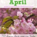 What to buy in April - A list of 50 Items that are on sale or marked down in April